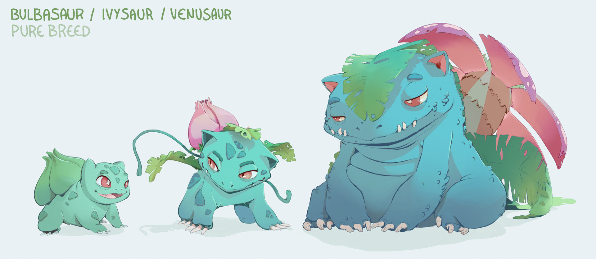artstation bulbasaur family pure breed alyzian bui d armagnac