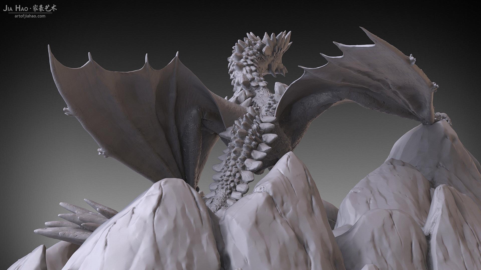 Jia hao 2017 rockdragon digitalsculpting 08