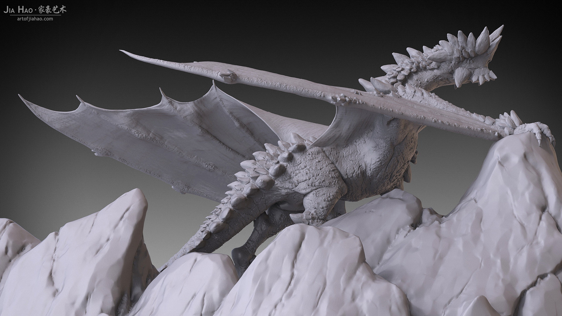Jia hao 2017 rockdragon digitalsculpting 09