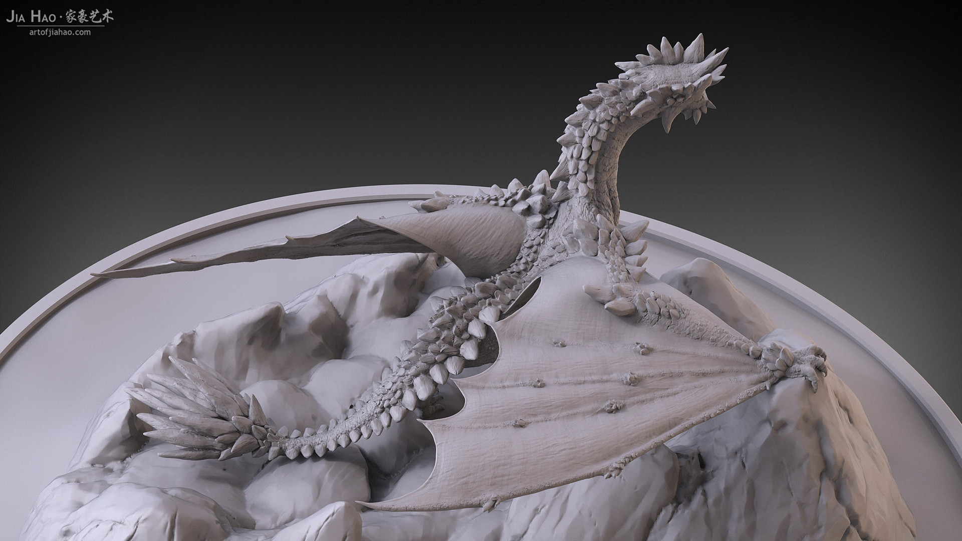 Jia hao 2017 rockdragon digitalsculpting 11
