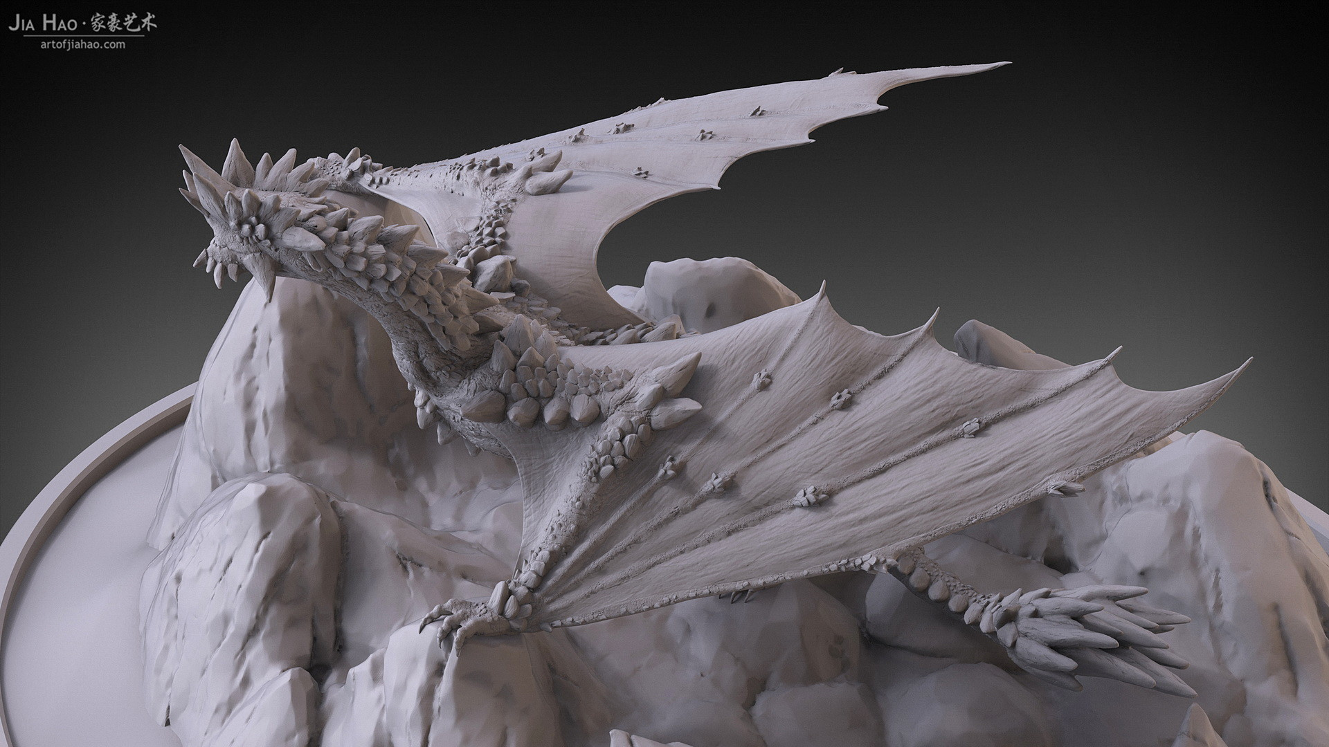 Jia hao 2017 rockdragon digitalsculpting 12
