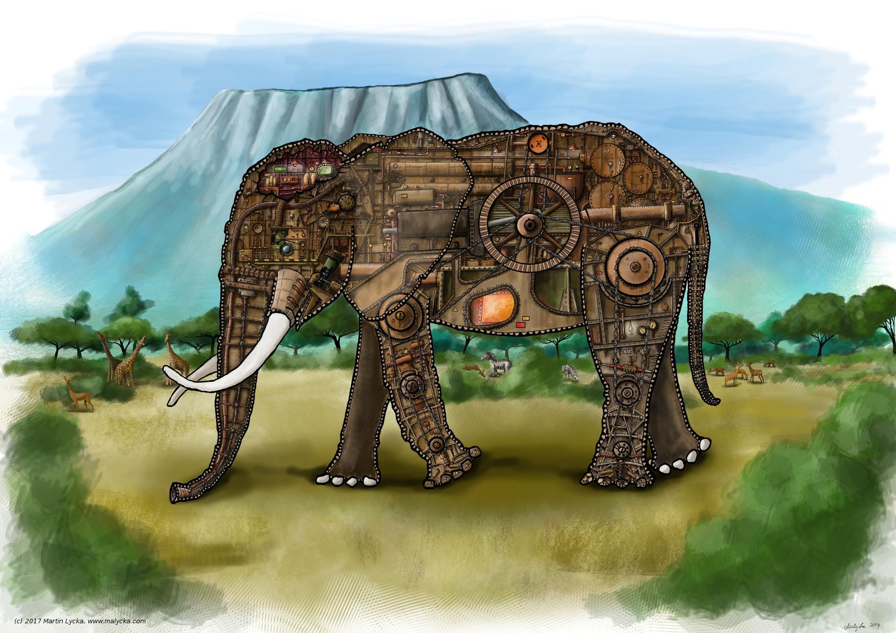 Artstation Elephants Anatomy Martin Lyka
