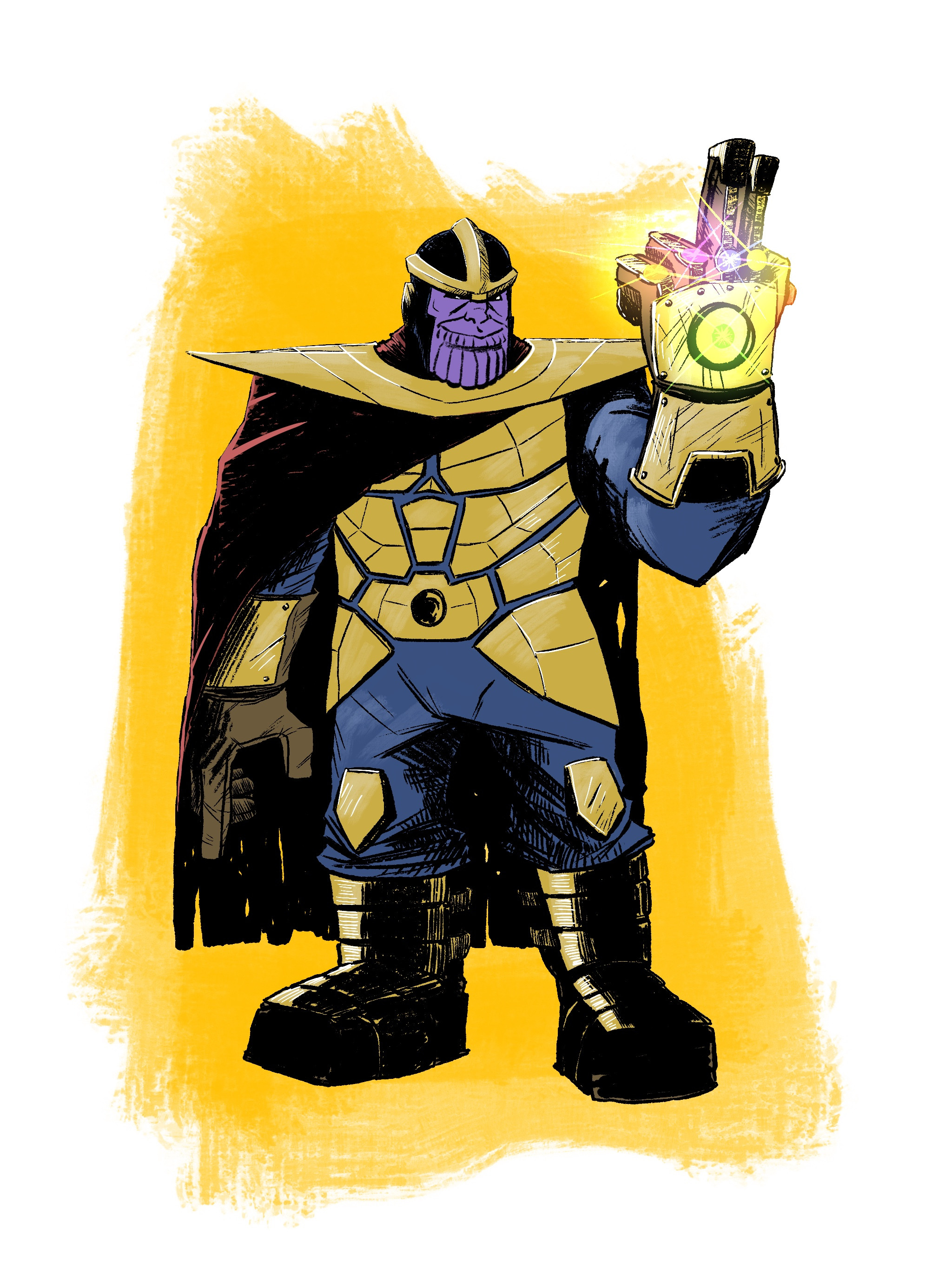 The Mad Titan, Thanos - Digital in Procreate