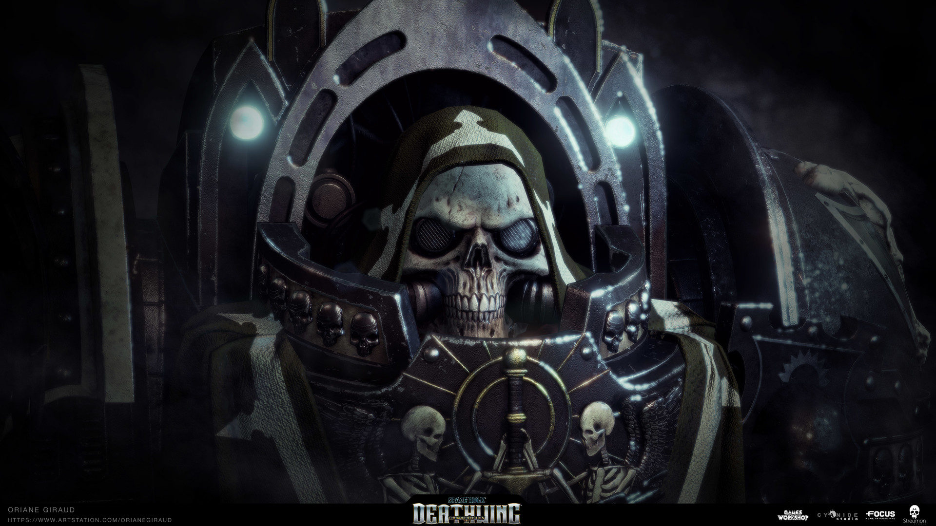 ArtStation - Space Hulk Deathwing - Interrogator Chaplain, Oriane Giraud