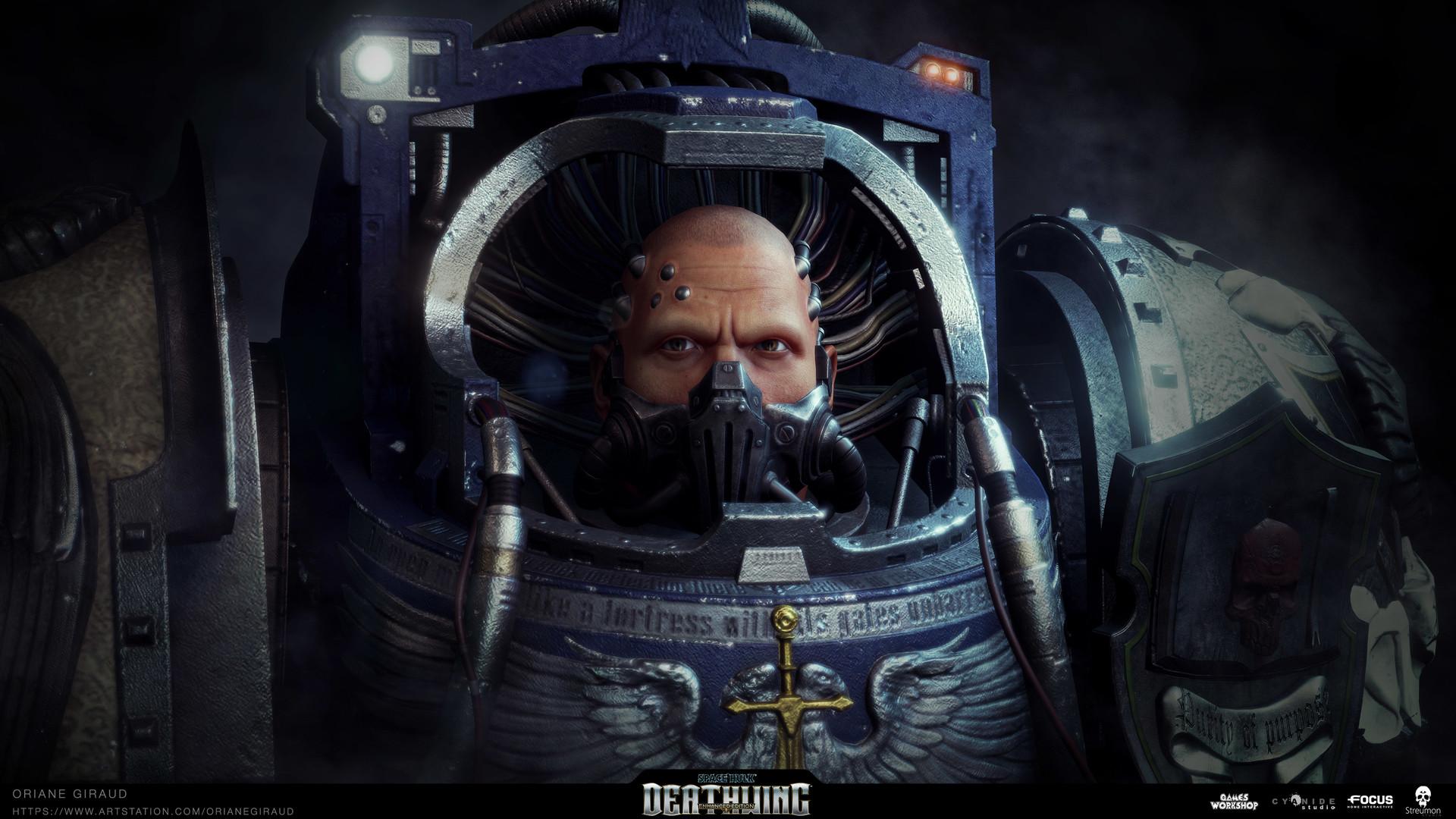 ArtStation - Space Hulk Deathwing - Librarian Heads, Oriane Giraud