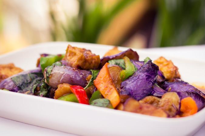Priscilla firstenberg thailanding on alki eggplant delight