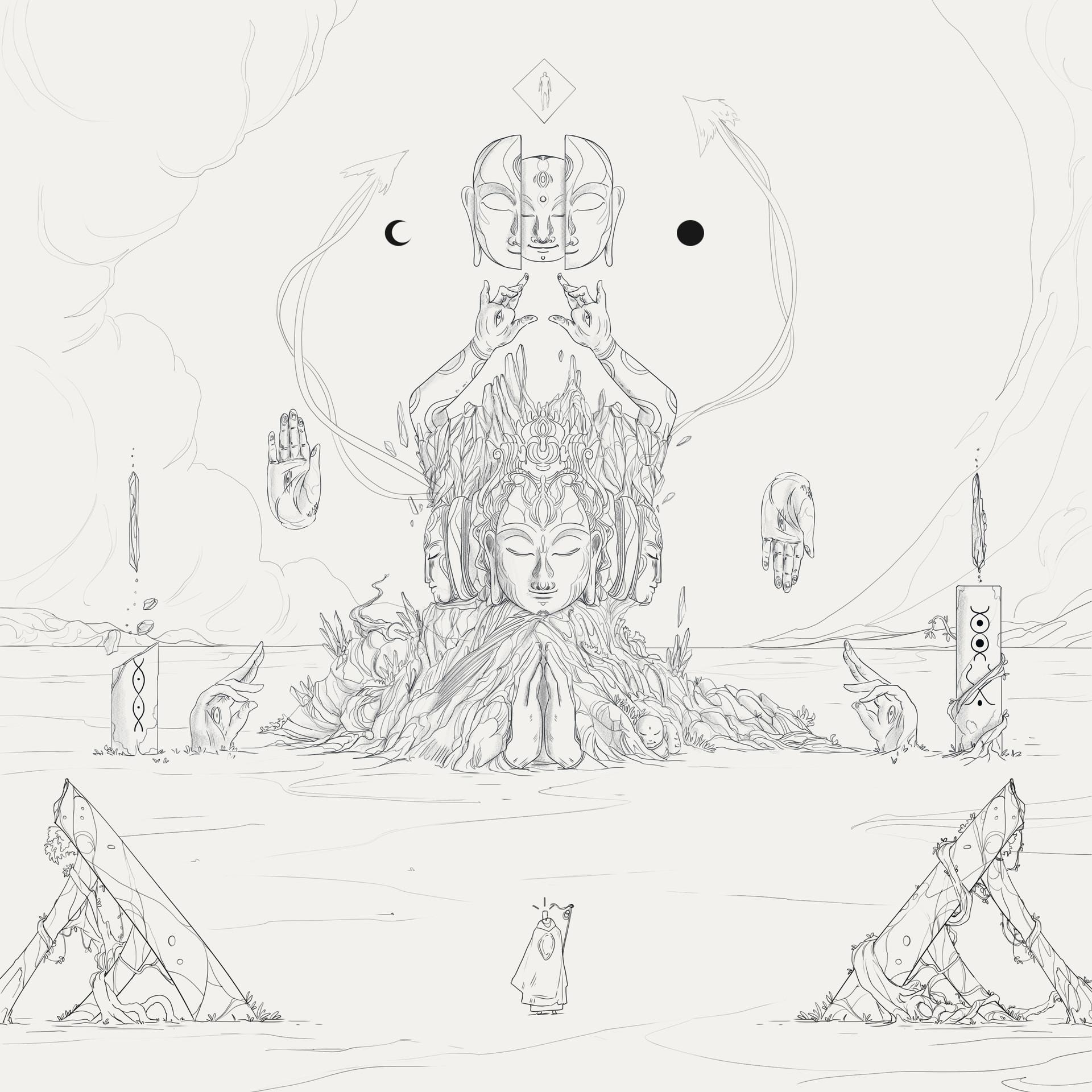 Christian benavides luis portada album art final line art