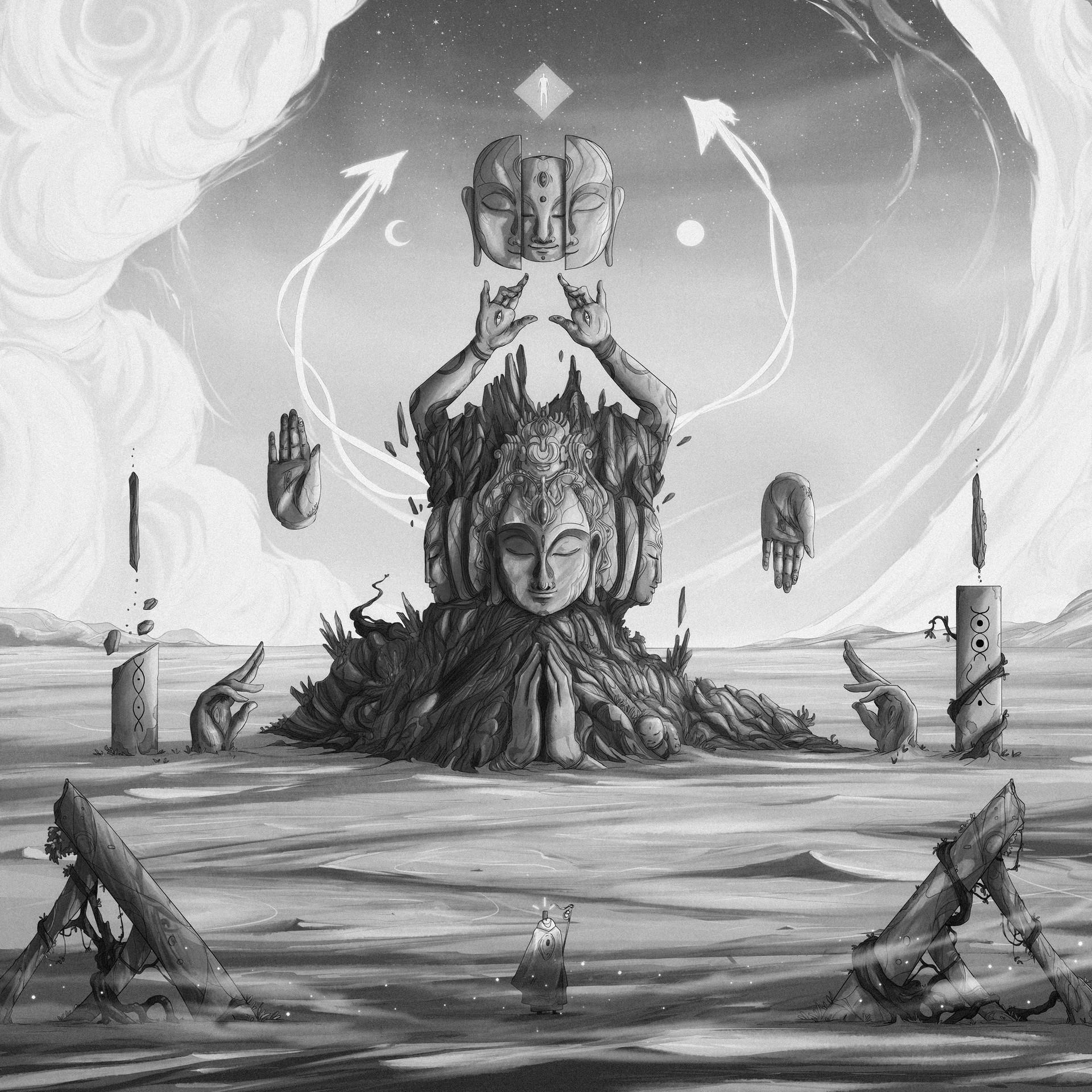 Christian benavides luis portada album art final greyscale