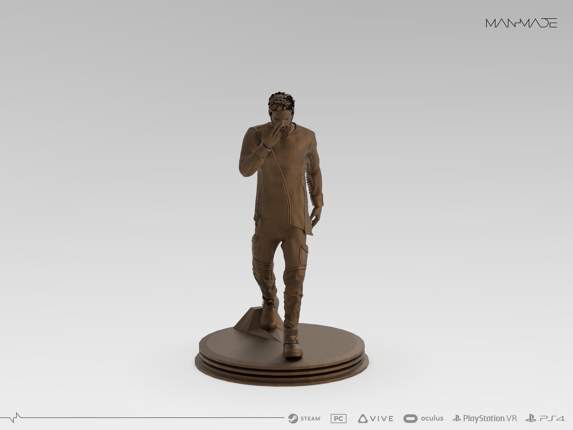 William Kaan Roberts Statue Keyshot Render 1