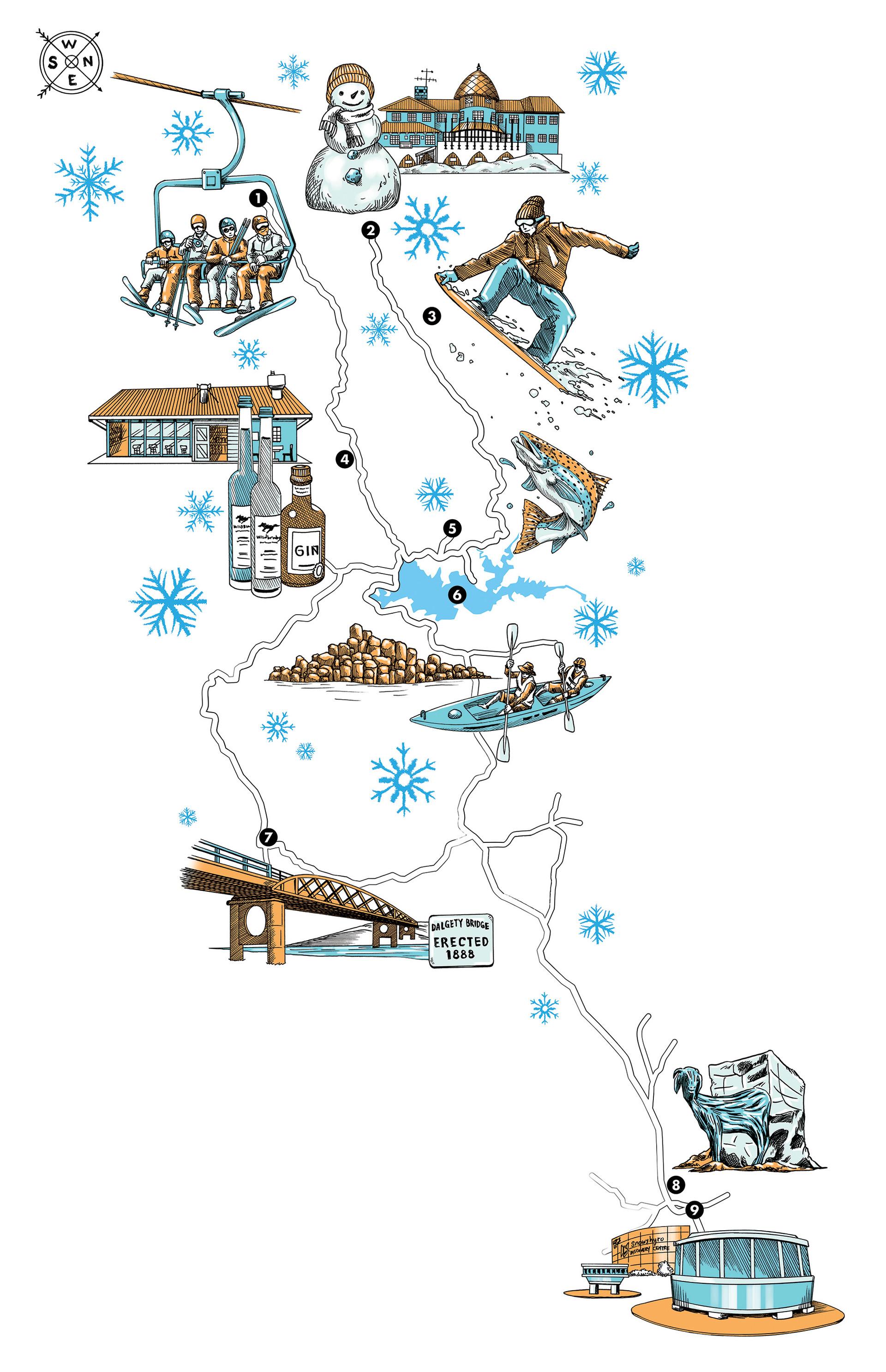 Australia Map Mountains.Tim Lai Illustrated Map Snowy Mountains Nsw Australia June 2018