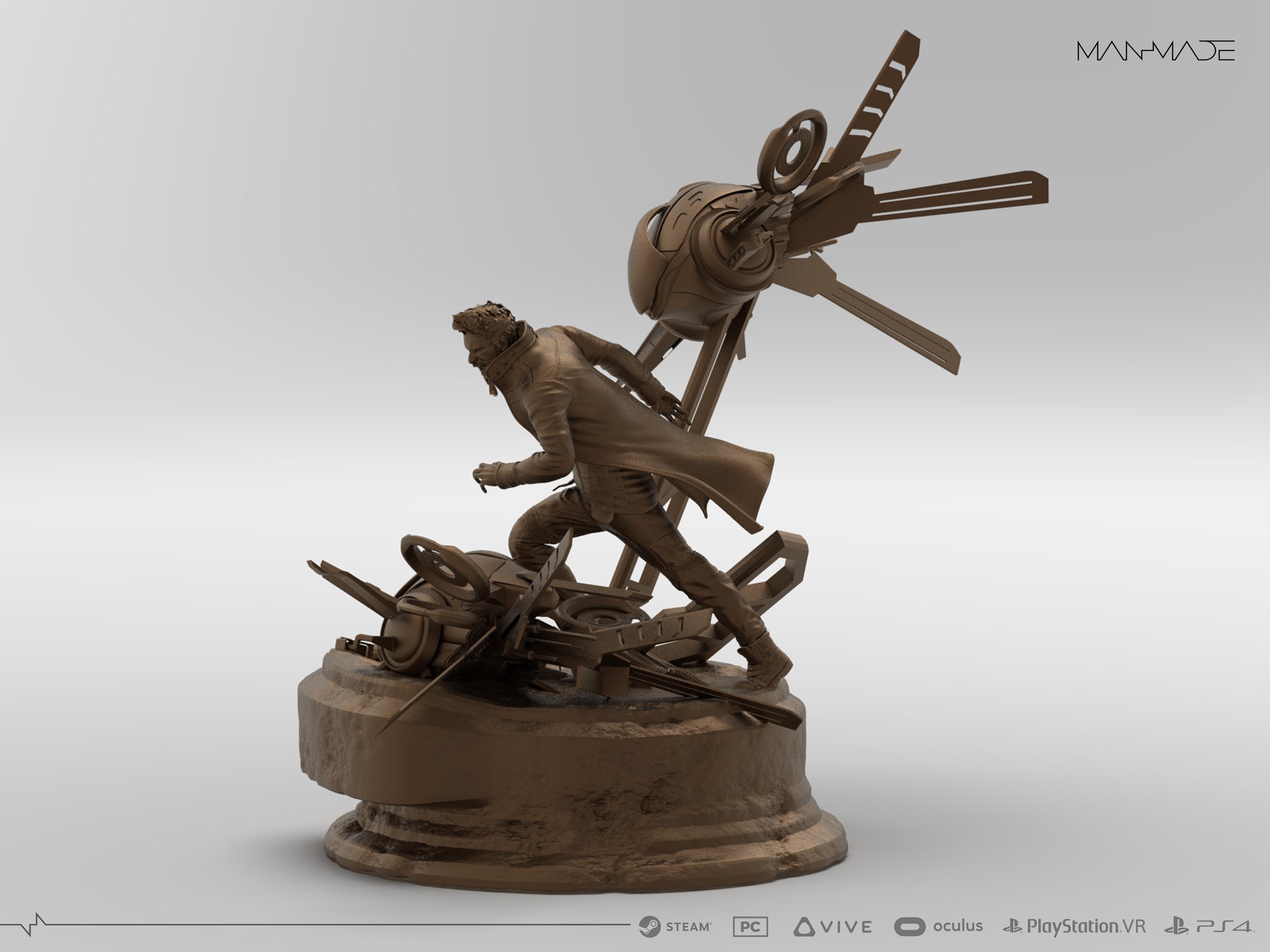 William Kaan Roberts Premium Statue Keyshot Render 3