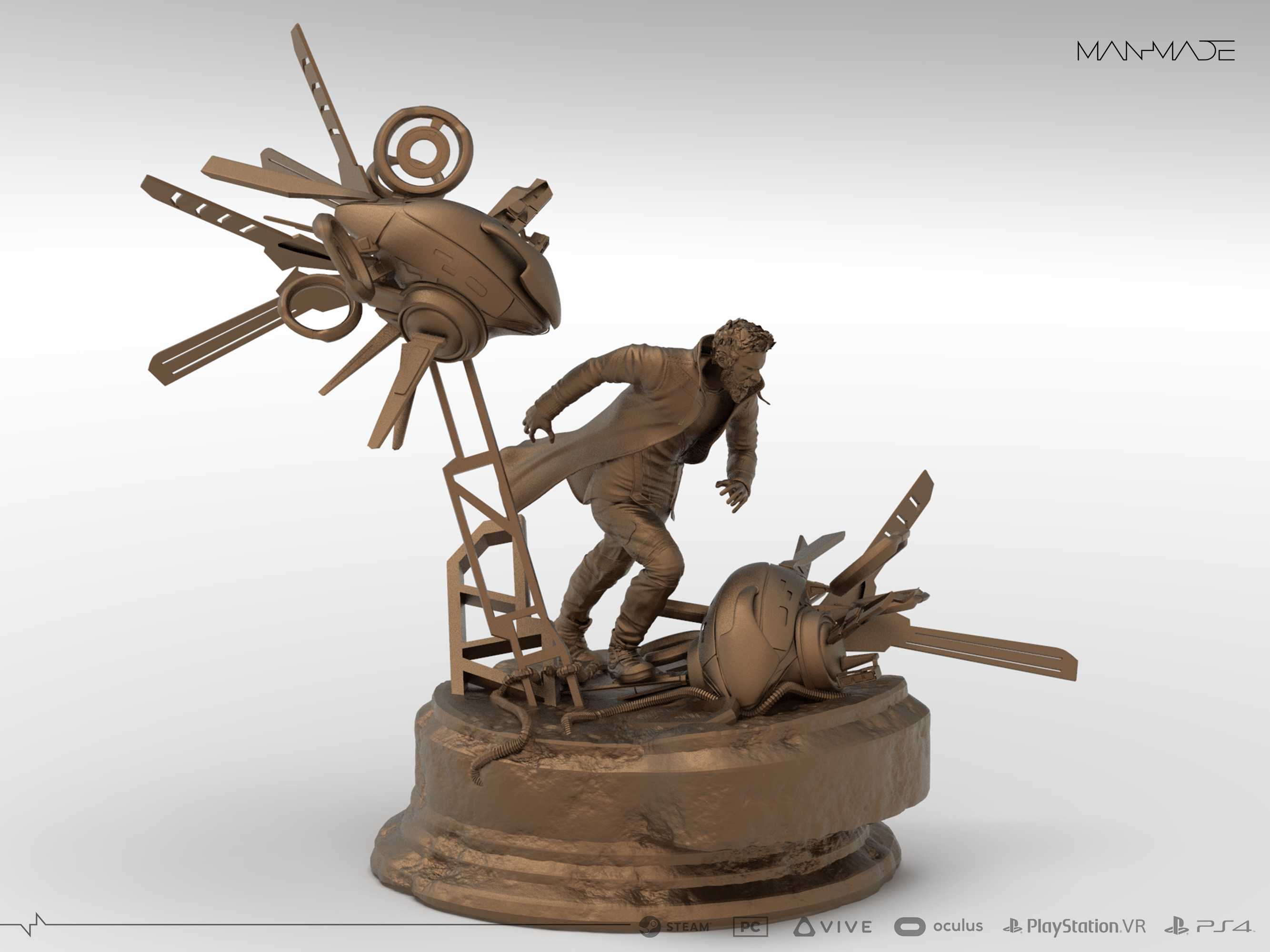 William Kaan Roberts Premium Statue Keyshot Render 2