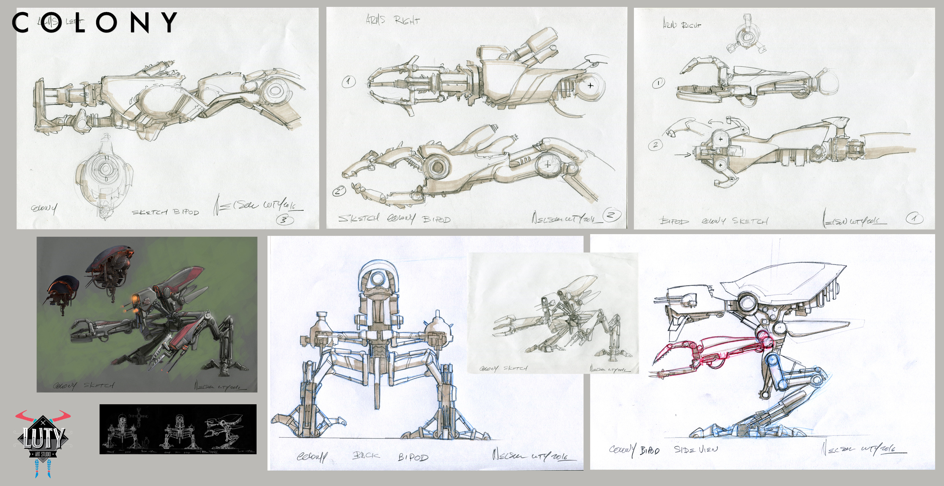 Sketches design by Nelson Luty