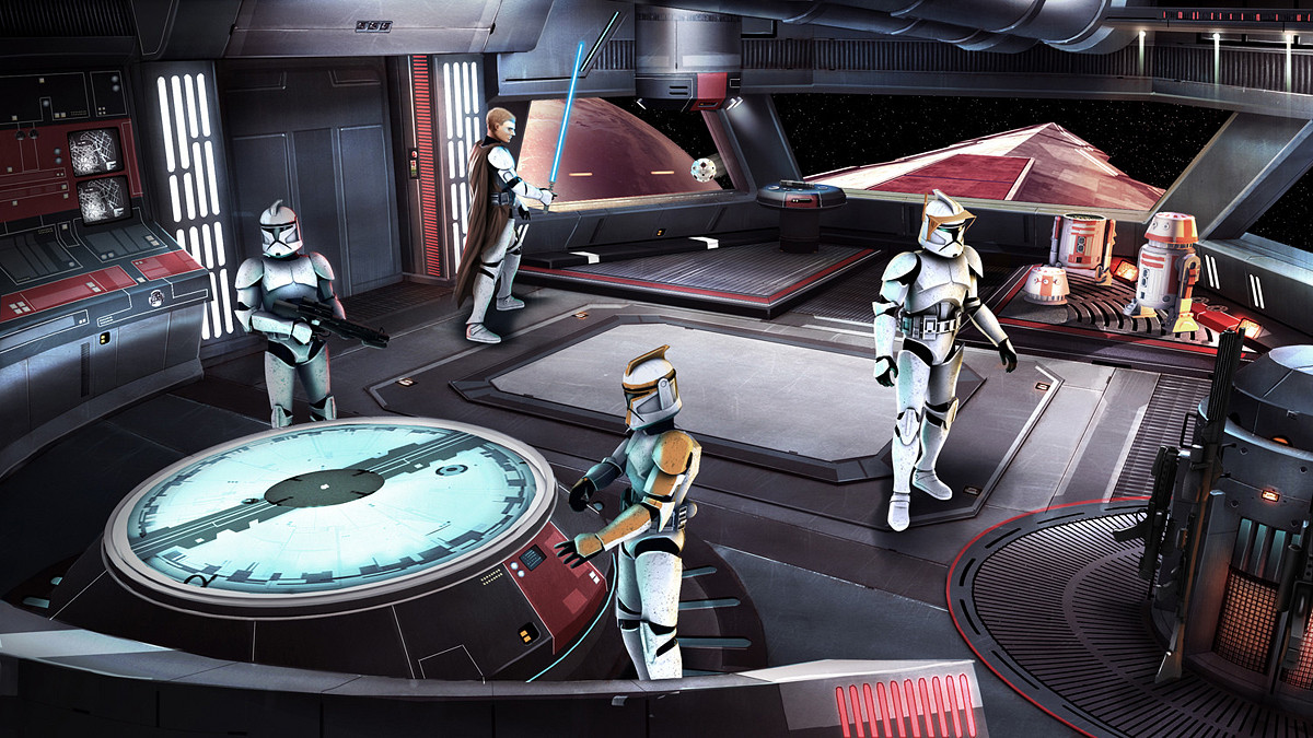 ArtStation - Star Wars-Clone Wars-Game Proposal- Interior