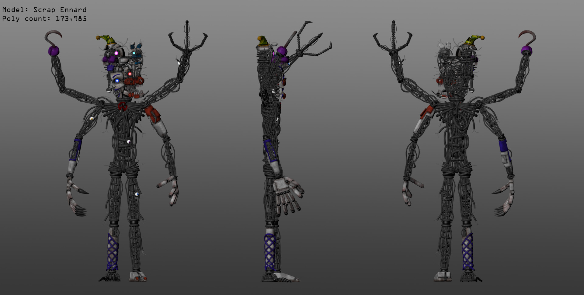 Thomas Honeybell FNaF fanmade model Scrap Ennard