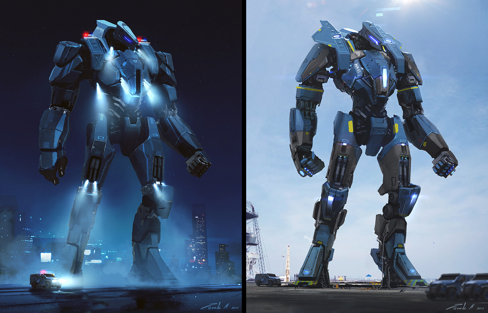 First iterations of the the Police Jaeger