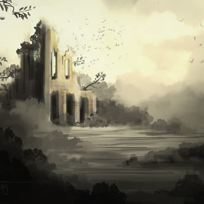 Arnesson art thomas hugo landscape