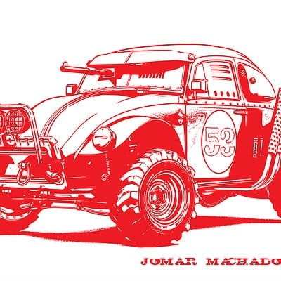 Jomar machado beetle red peq