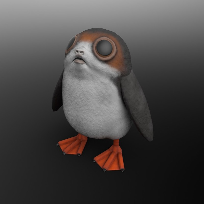 Porg - Star Wars Galaxies Prop