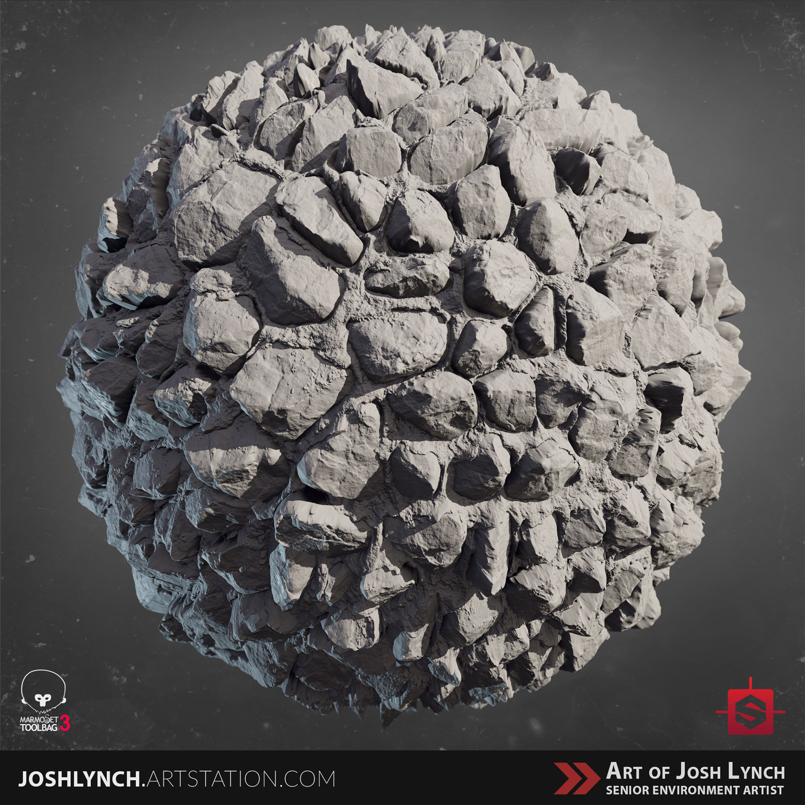 Joshua lynch artstation masterclass layout comp square sphere 01 gray