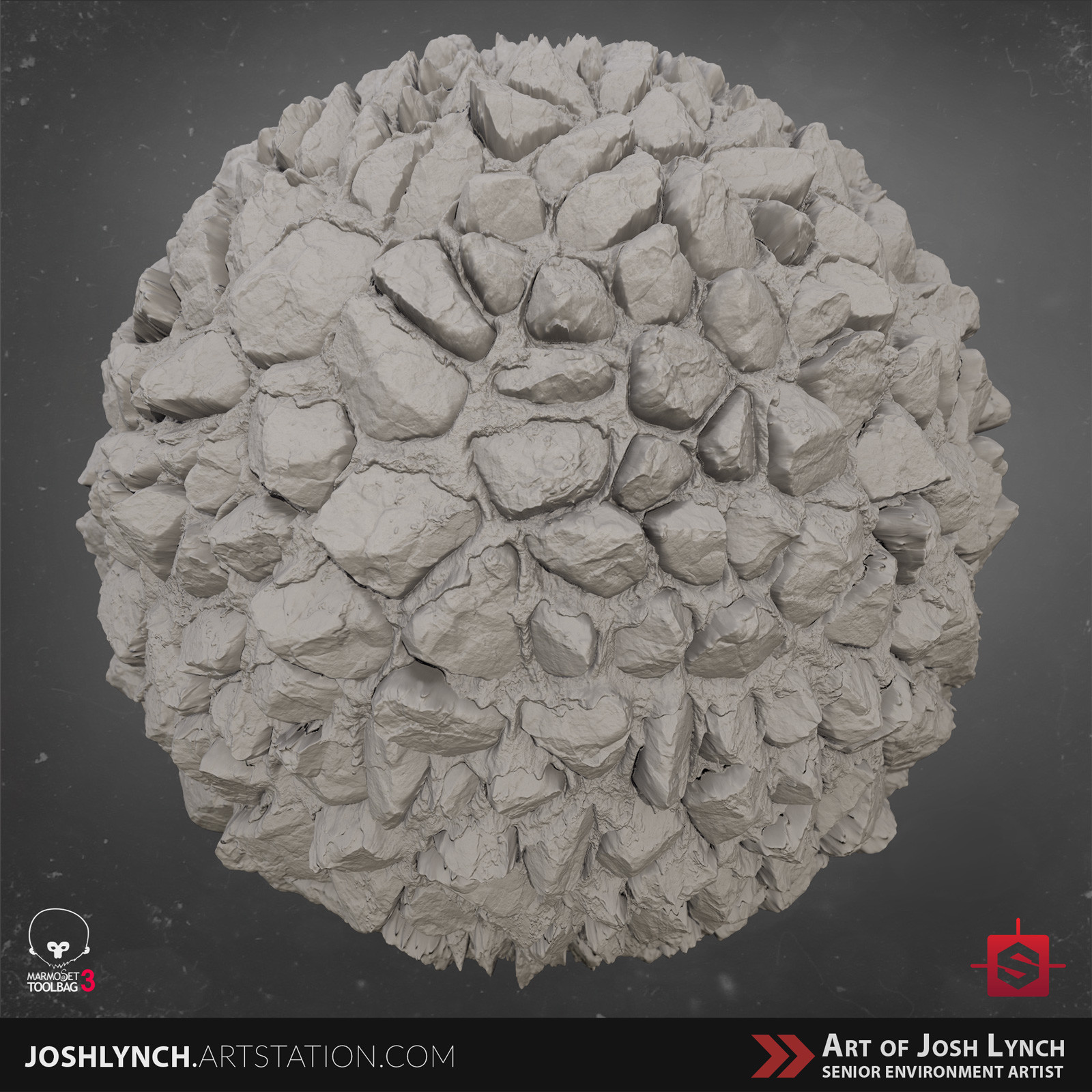 Joshua lynch artstation masterclass layout comp square sphere 02 gray