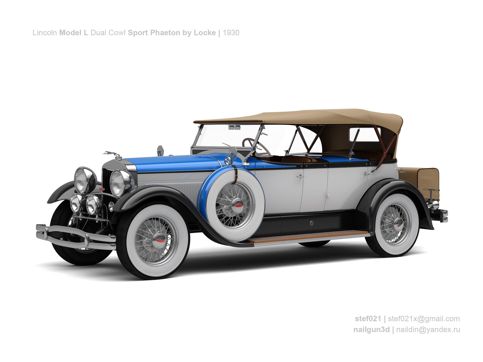 Nail khusnutdinov a0012 000 lincoln model l dual cowl sport phaeton by locke 1930 0