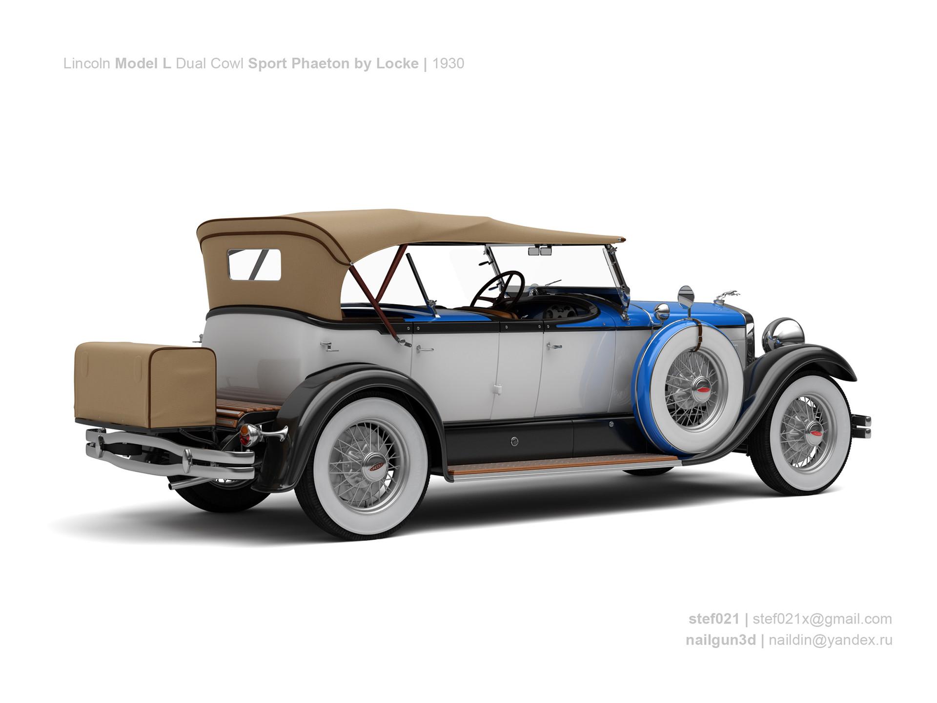 Nail khusnutdinov a0012 000 lincoln model l dual cowl sport phaeton by locke 1930 1