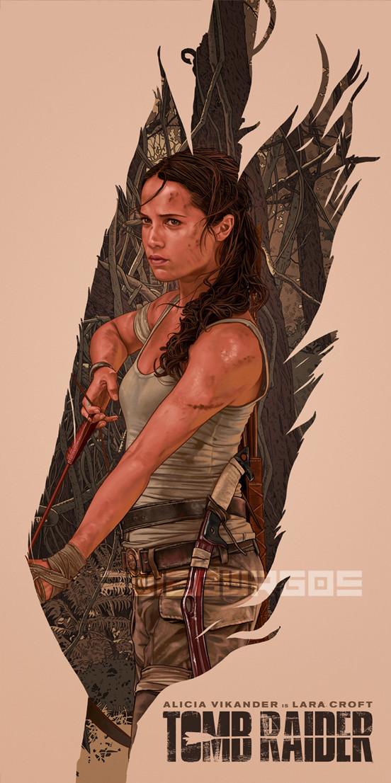 Artstation Tomb Raider Alternative Movie Poster Ruiz Burgos