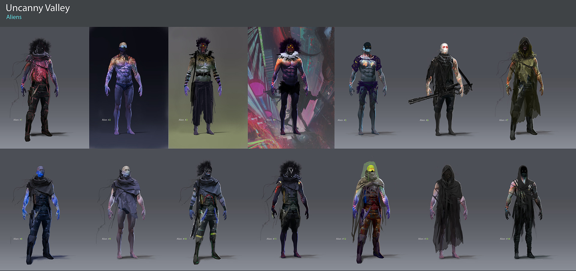 Pablo olivera uncanny valley character design aliens 15 baja