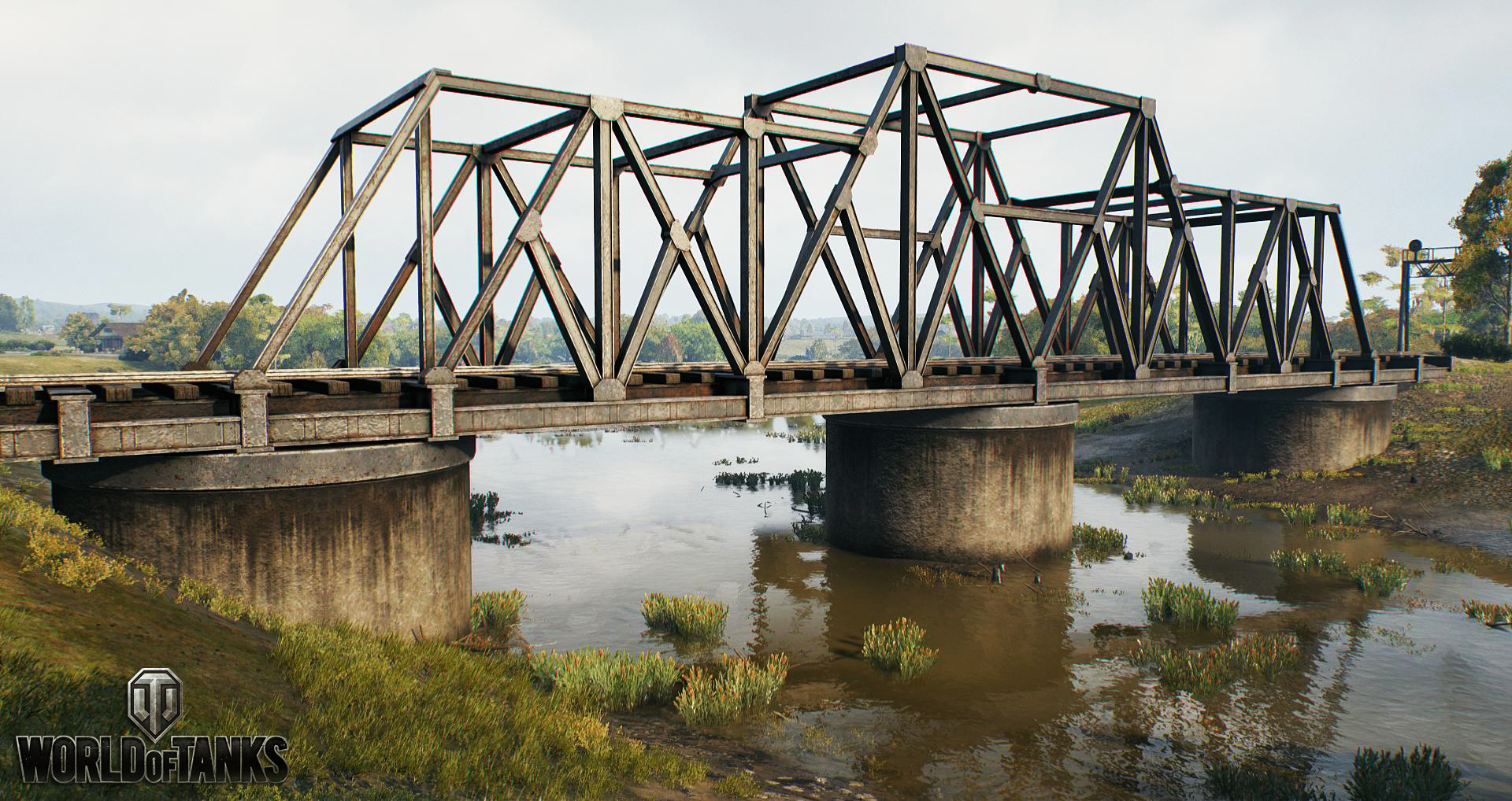 I designed and modeled the highpoly/lowpoly models for the two bridges in the map. Textured by Dean McCall.