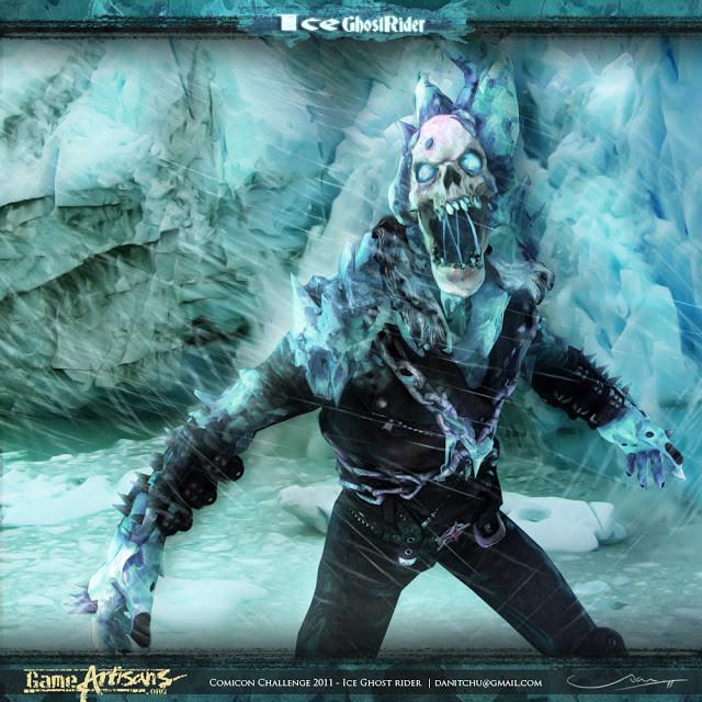 "Ice ghost rider "" Comicon challenge 2011"""
