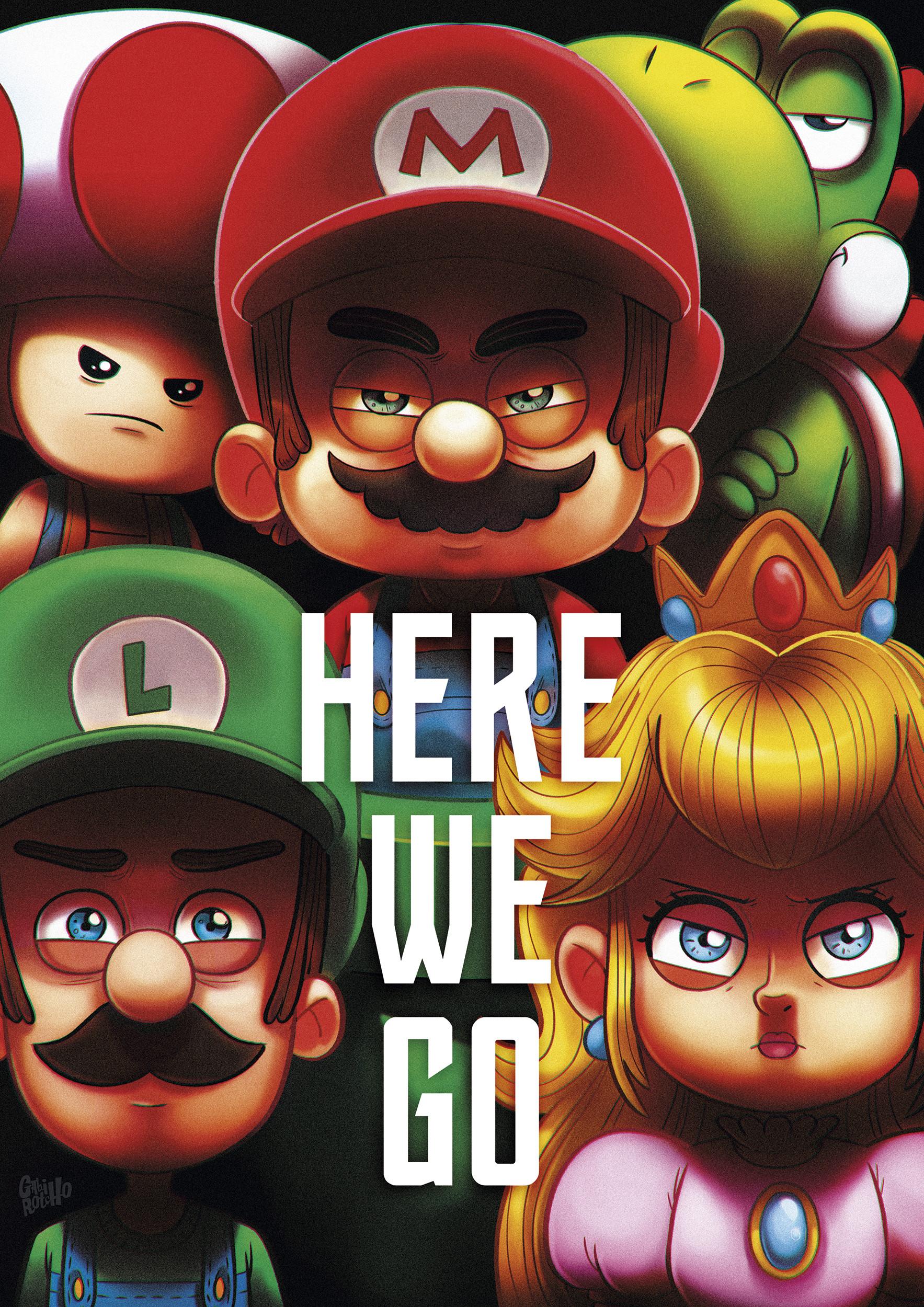 Gabirotcho poster a4 super mario