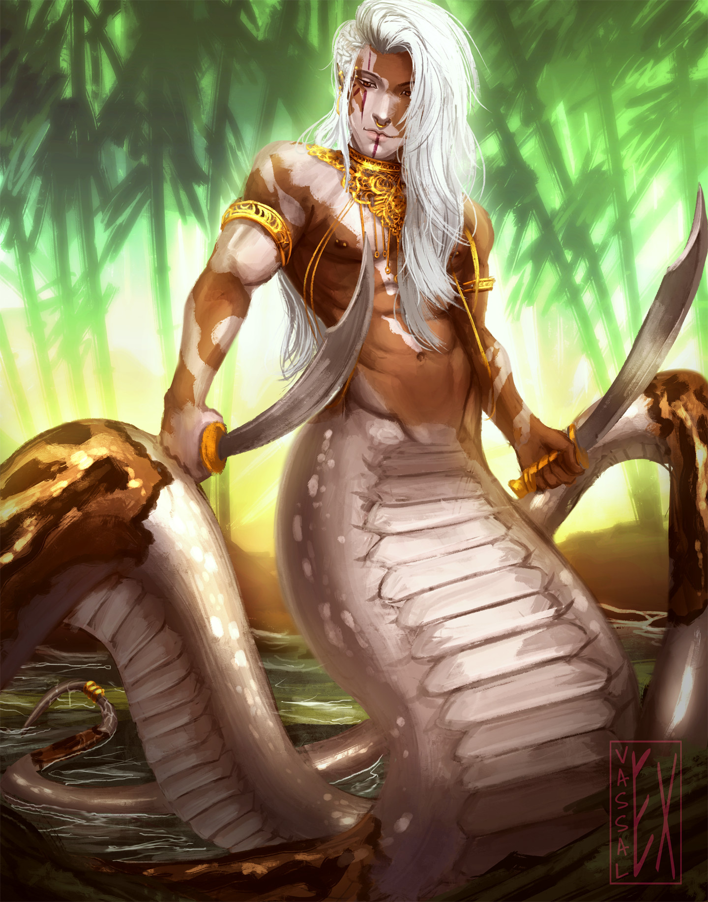 Fantasy Male Naga Art