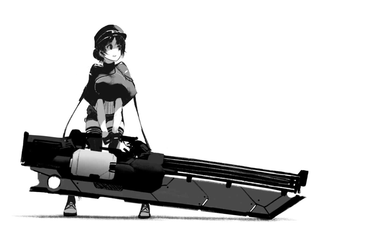 Combat girl sketch
