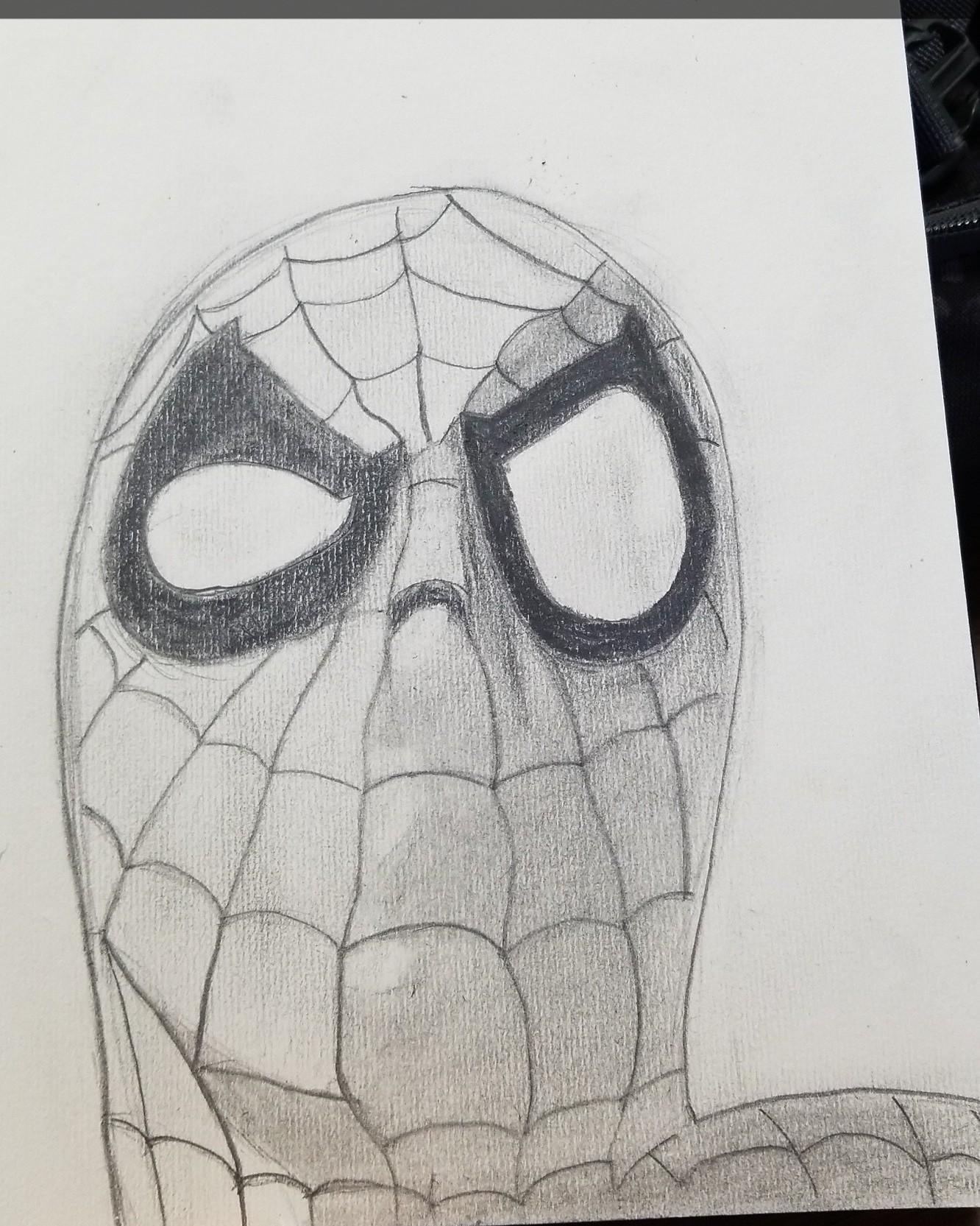 Artstation Spiderman Sketch Wumbo