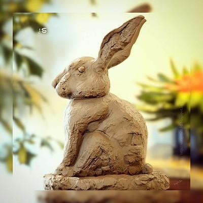 Surajit sen rabbit clay sculpt surajitsen insta