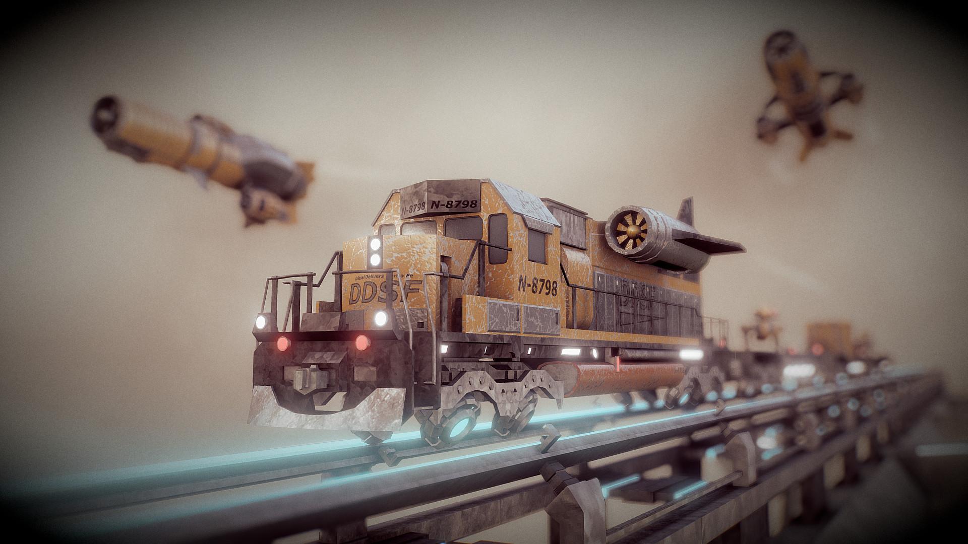 Ivan batalla dieselpunk sky train