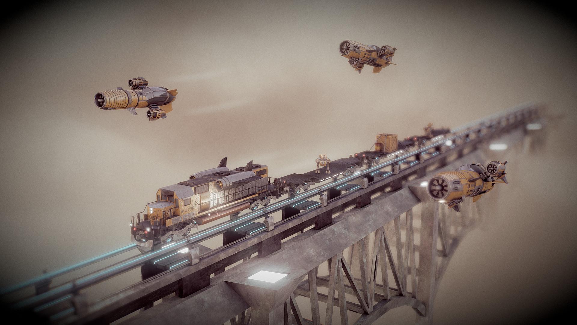 Ivan batalla dieselpunk sky train 3