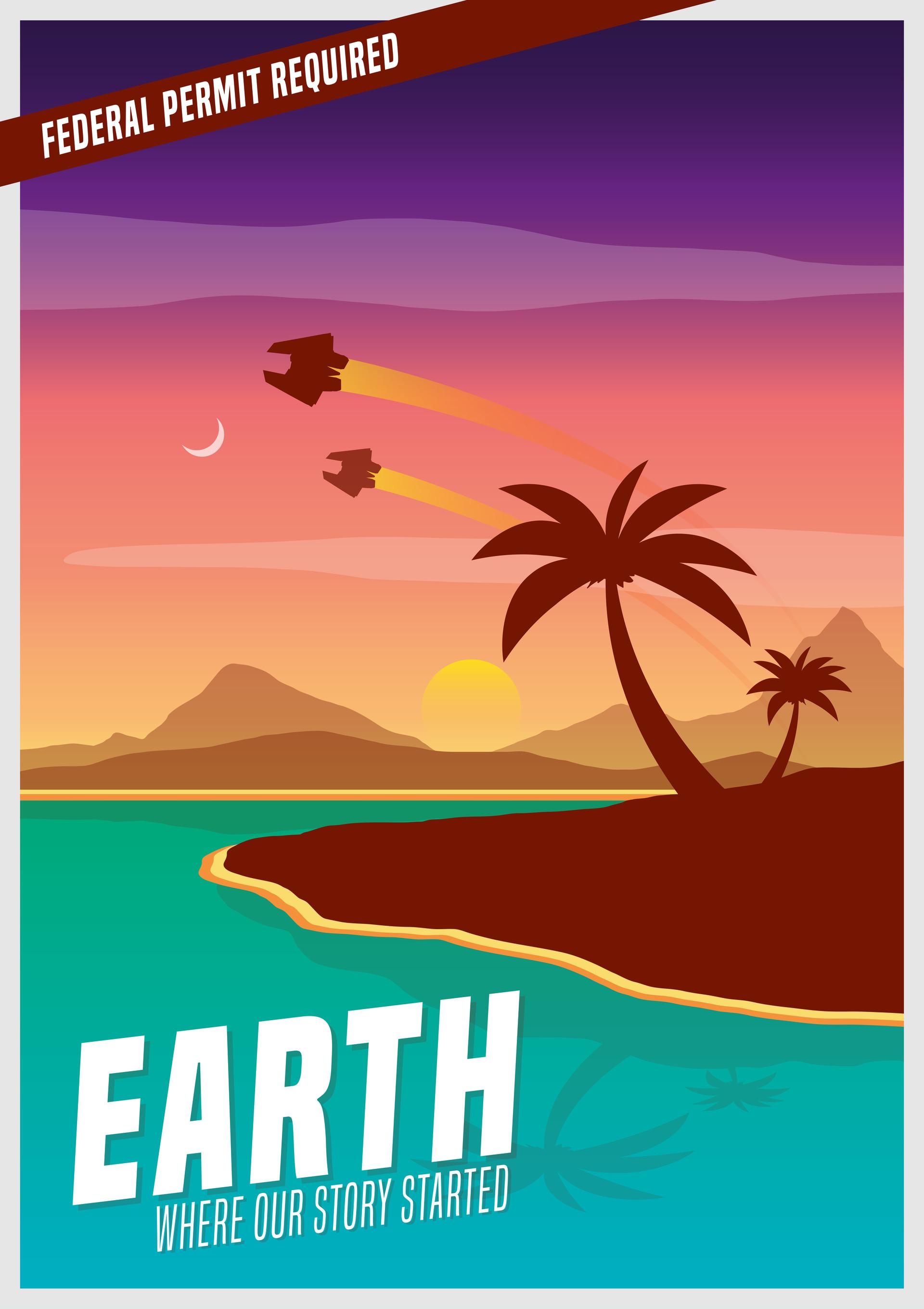 mathew maddison portfolio elite dangerous earth tourism poster