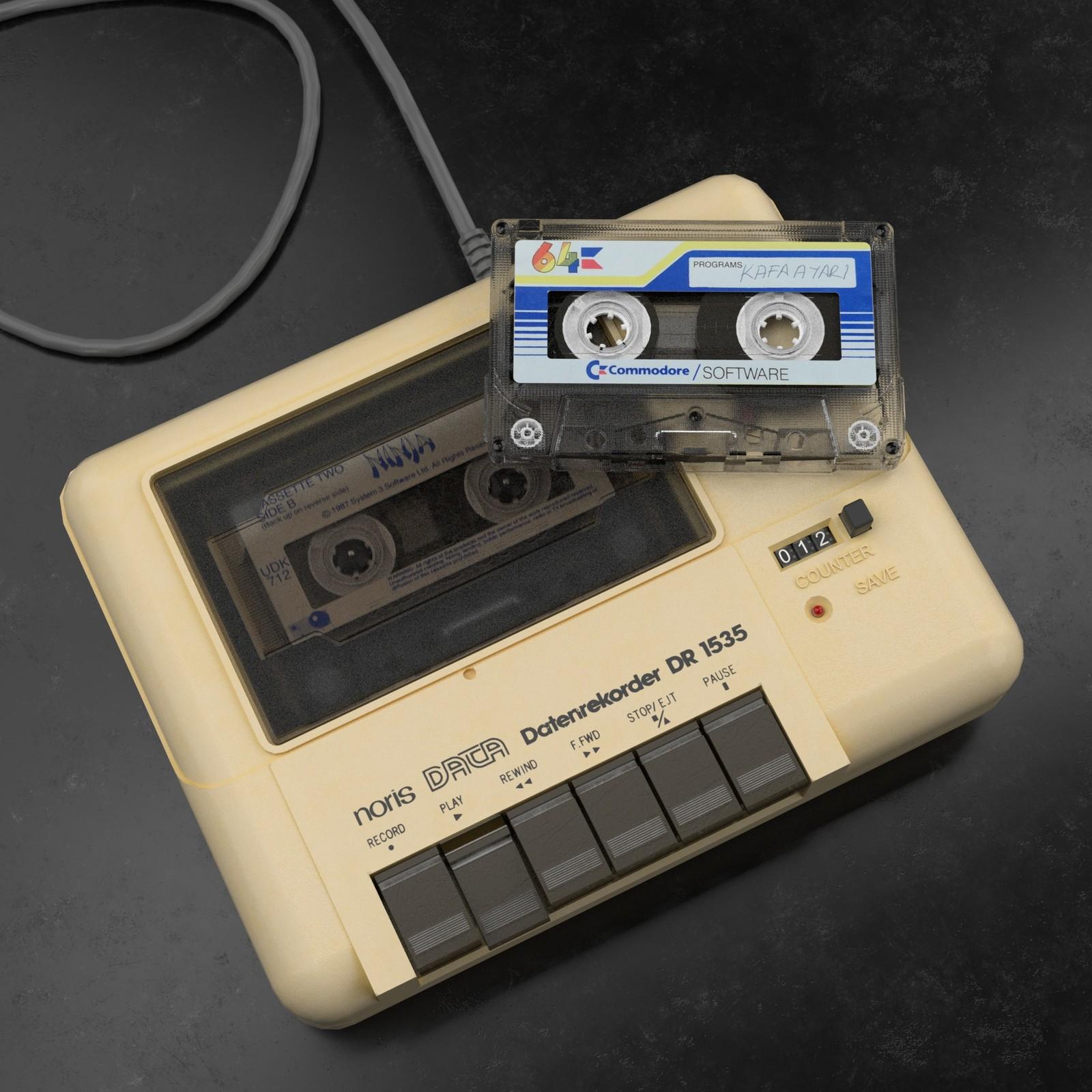 C64 Datasette and Cassette