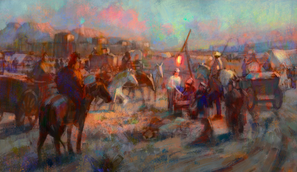Marta nael cossacks landscape sketch
