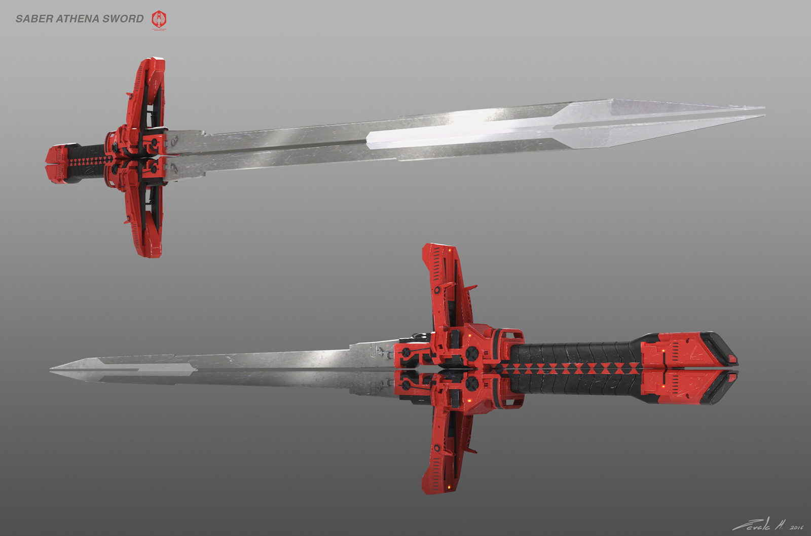 Saber Athena's mandoble sword version