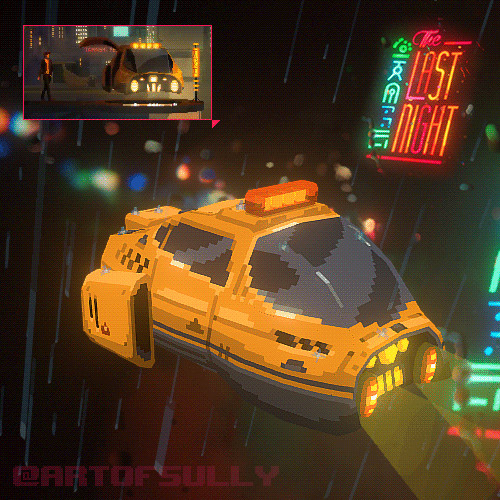 Cyberpunk Taxi ('The Last Night' Art Test)