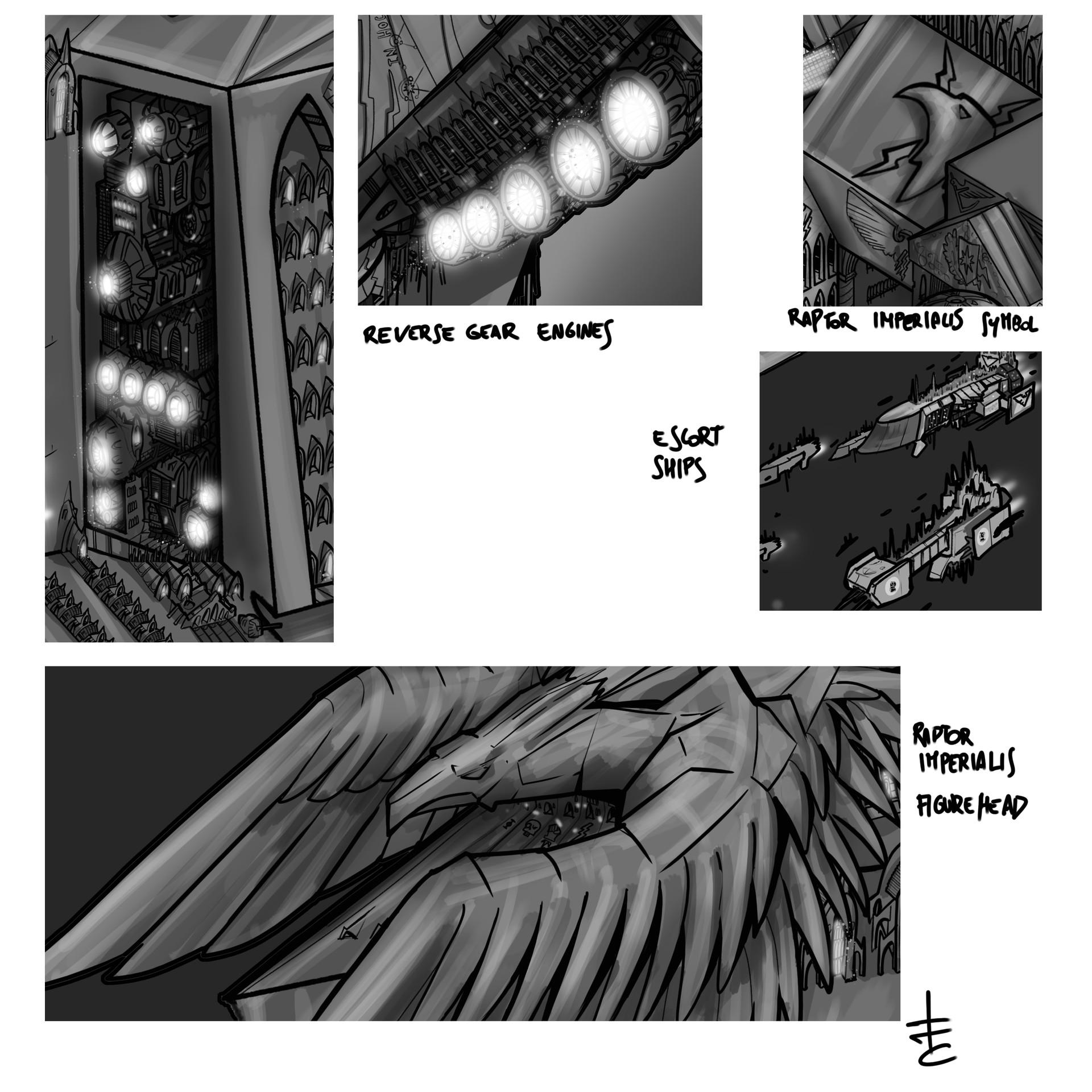 Warhammer 40k Void Ship Imperator Somnium details