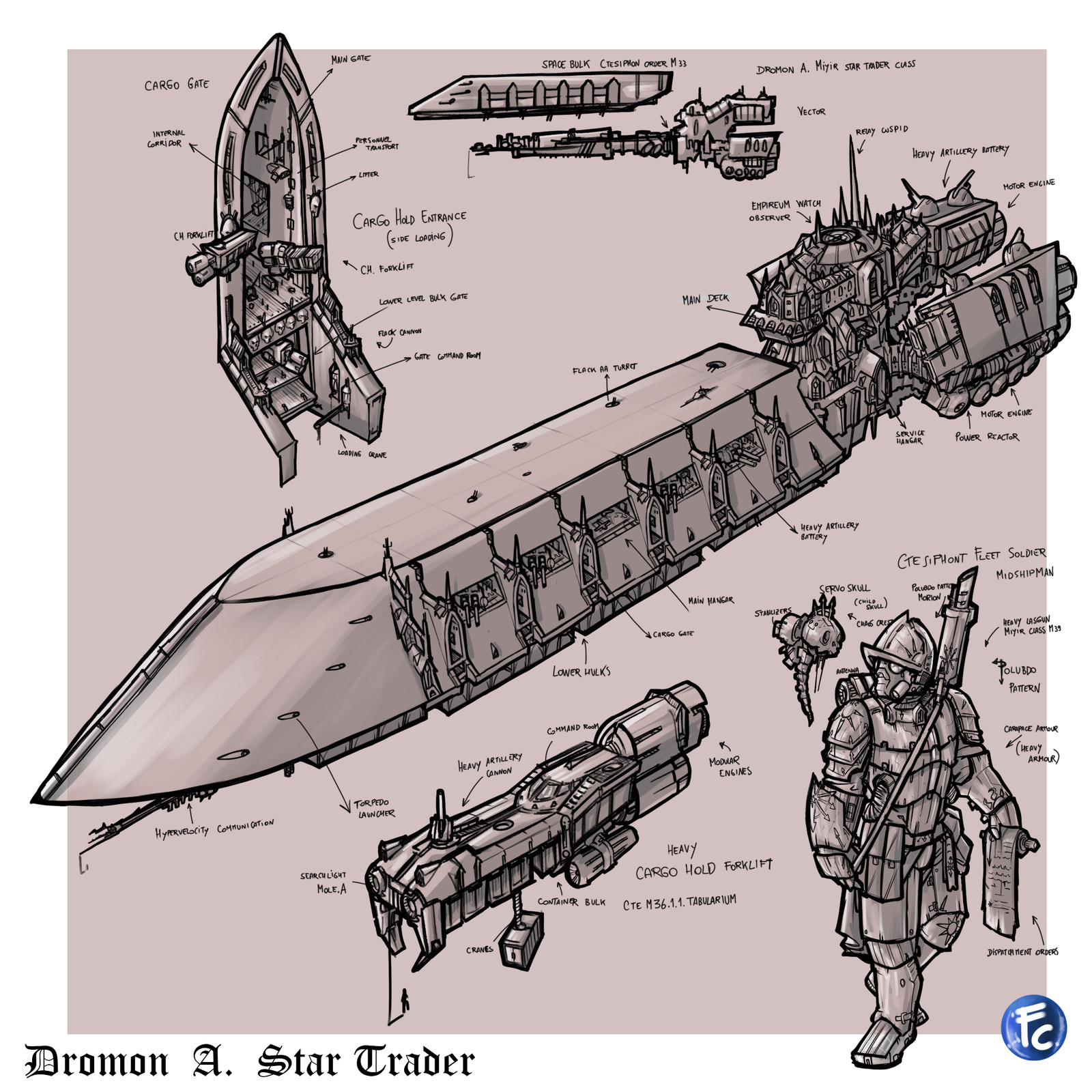 Warhammer 40k Void Ship