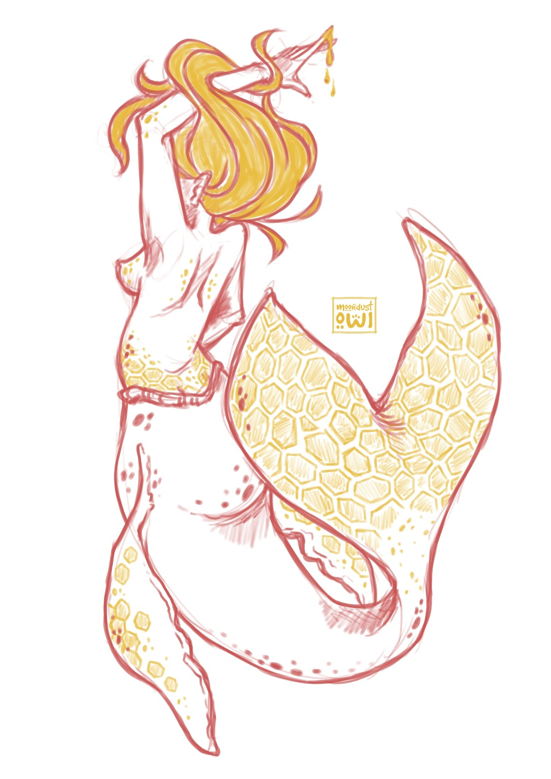 Honey-Whale mermaid