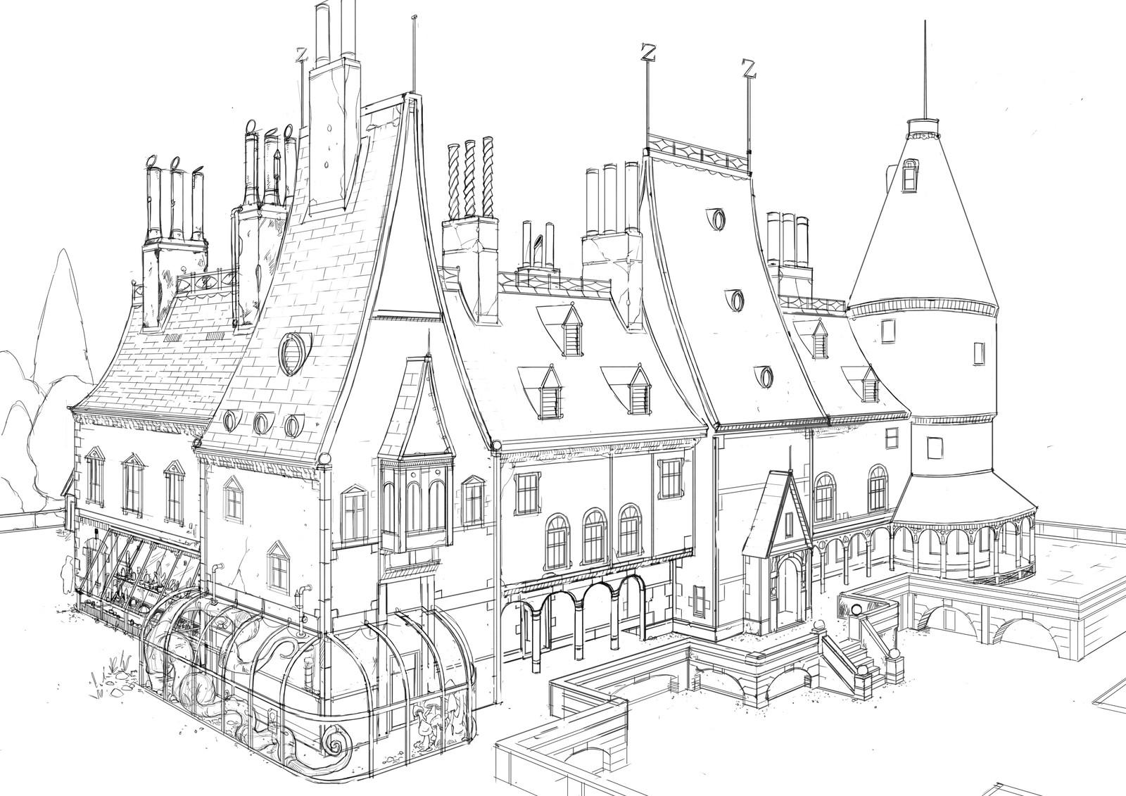 Zodiac House sketch