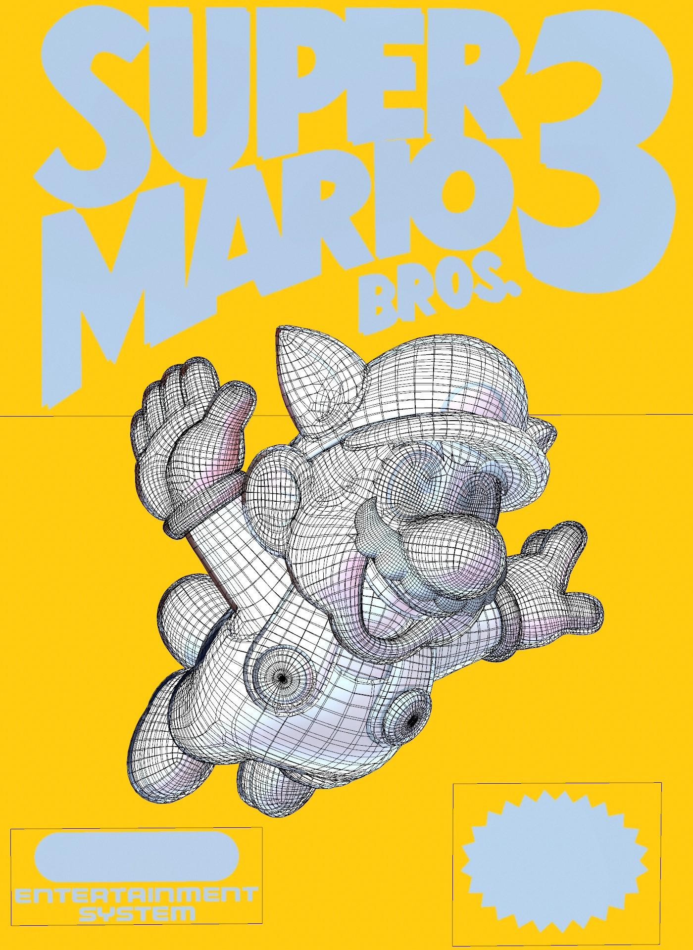 Artstation Super Mario Bros 3 Nes Cover Retrogasm 2018 Competition Claudio Clemente