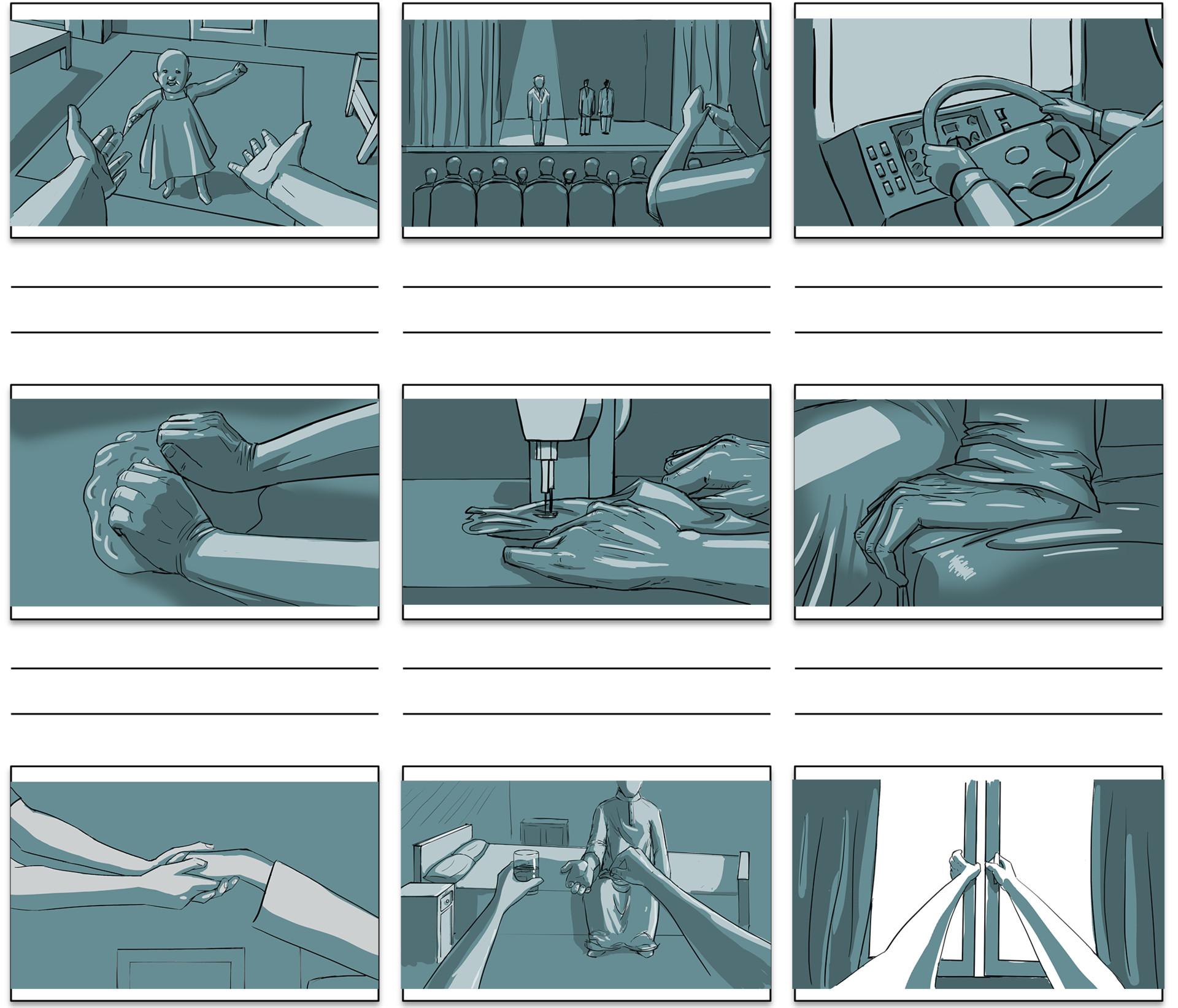 Mohamed Ibrahim - Mersal foundation tv commercial storyboard