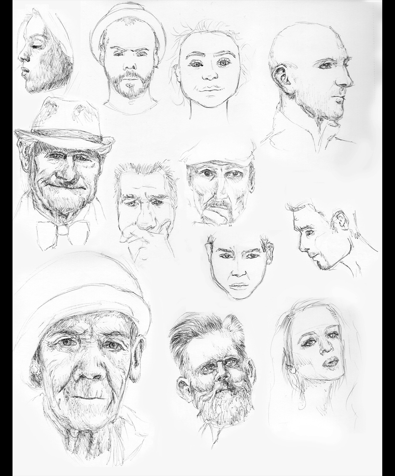 Small sketches referencing royalty free images.